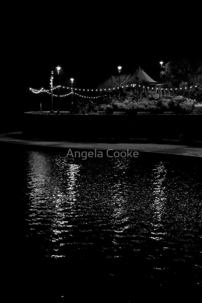 Weston-Super-Mare at night by Angela Cooke
