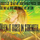 Strength of the Sun (Judges 5:31) by Charldia