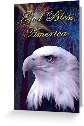 God Bless America Eagle by jkartlife