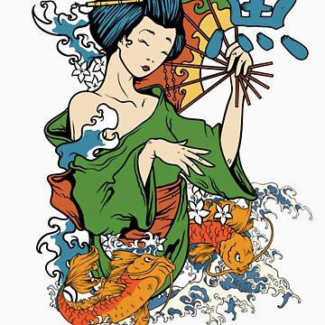 Japanese Geisha Koi by seldred80
