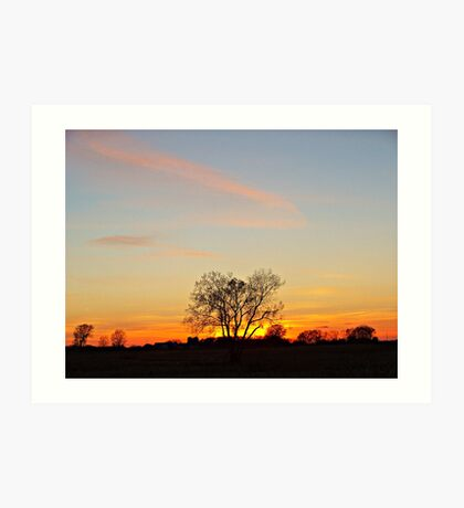 Lonesome Plains Art Print