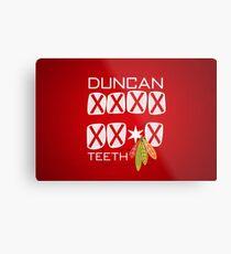 Duncan Teeth_X Metal Print