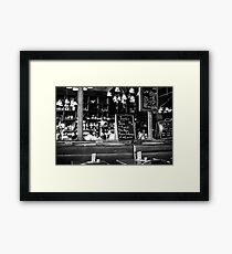 Cafe interior - Paris Framed Print