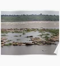 Fishing on the Congo River Poster