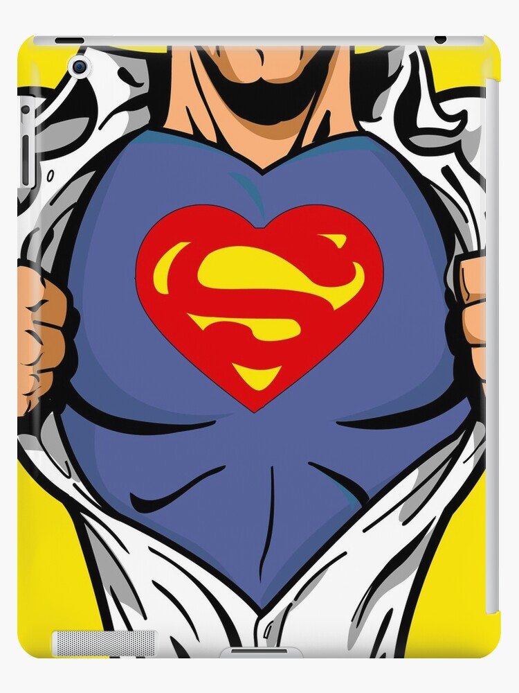 Superheart Funny iPad Case / iPhone 5 Case / T-Shirt  by CroDesign