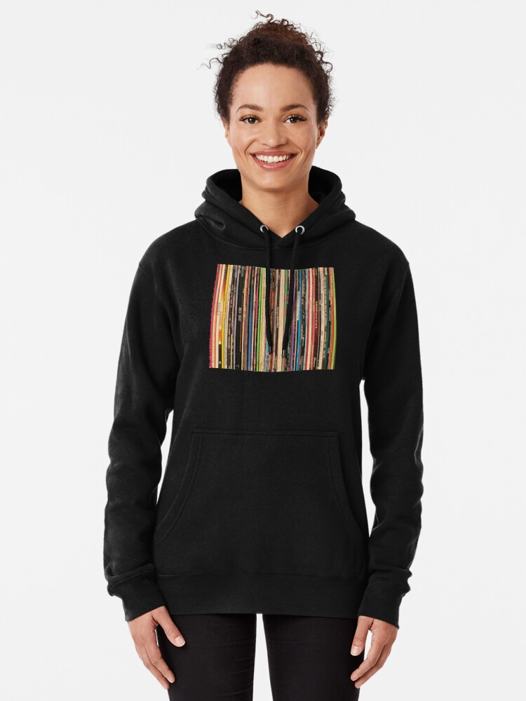 Alternate view of Classic Alternative Rock Records Pullover Hoodie