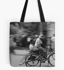 Rickshaw in Myanmar Tote Bag