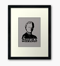Downton Abbey What Is A Weekend Tshirt Framed Print