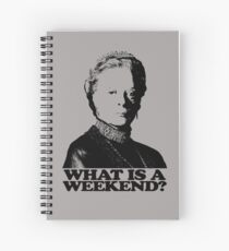 Downton Abbey What Is A Weekend Tshirt Spiral Notebook