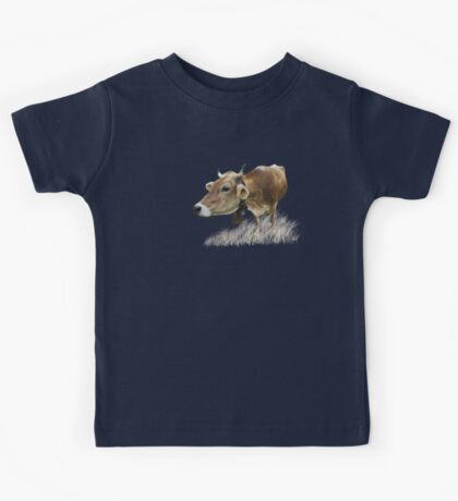 Milk cow in the field VRS2 Kids Clothes