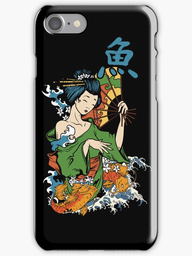 Japanese Geisha Koi by Sarah  Eldred
