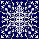 roue de lys (version blanc en bleu) by HoremWeb