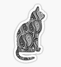 Paisley Yin Yang Cat Sticker