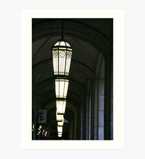 Row of lights Art Print