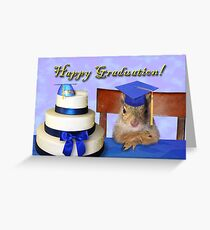 Graduation Squirrel Greeting Card