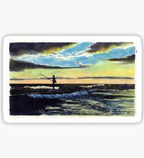 Surf Casting Sticker