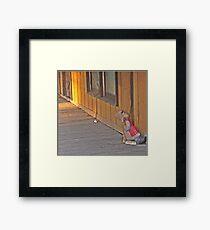 Dozing At The Corner Framed Print