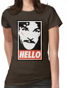 Hello... Womens Fitted T-Shirt