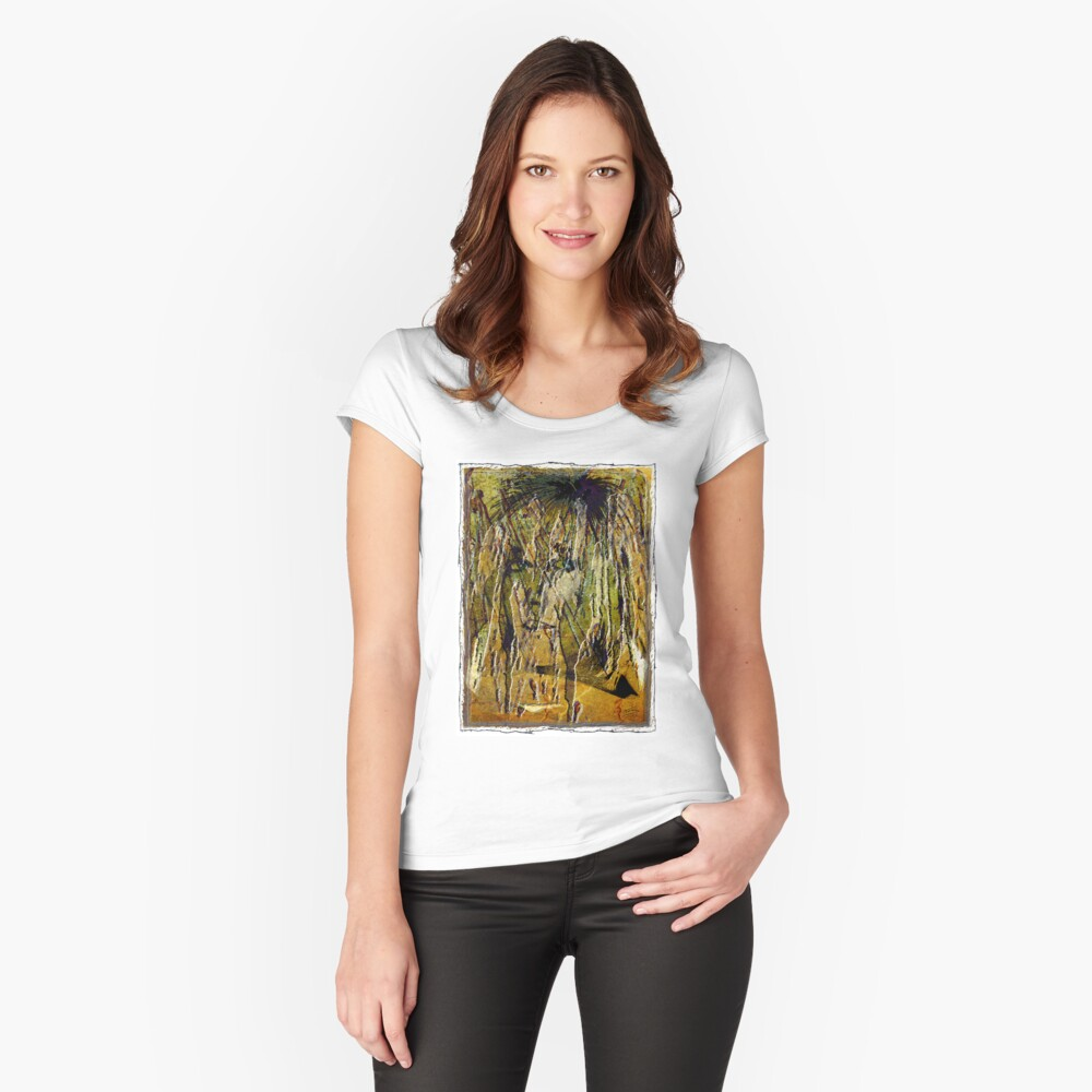 Liquid Eyes Women's Fitted Scoop T-Shirt Front