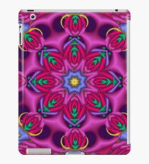 Colourful kaleidoscope fractal design iPad Case/Skin