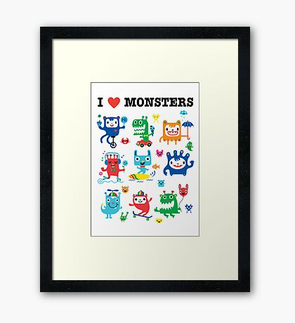 Monster Love Framed Print