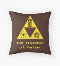 The Triforce of Fandom (Superwholock) Throw Pillow