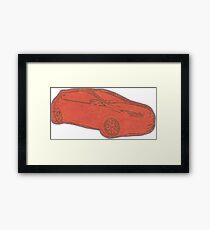 Focus ST Mk3 Drawing - Race Red Framed Print