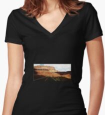 Vermillion Cliffs Women's Fitted V-Neck T-Shirt