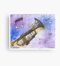 Trumpet Notes Metal Print