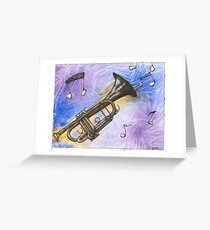 Trumpet Notes Greeting Card