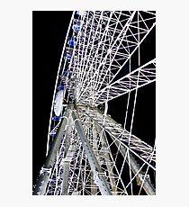 Duesseldorf - Ferris Wheel at night Photographic Print