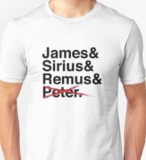 James & Sirius & Remus & X. Unisex T-Shirt