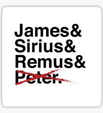 James & Sirius & Remus & X. Sticker