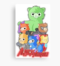 Alpacas Assemble Canvas Print