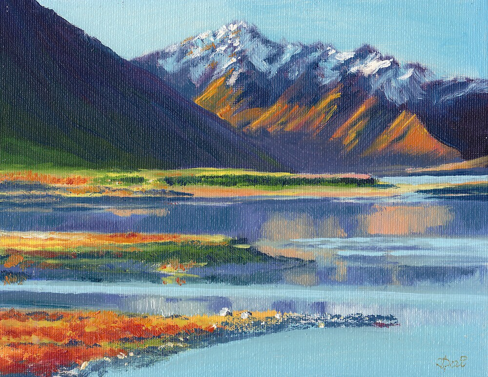Mt Erebus and Lake Tekapo by Dai Wynn