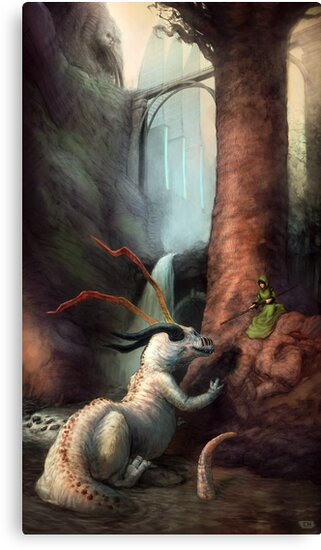 Frigga and the Water Dragon by Ethan  Harris