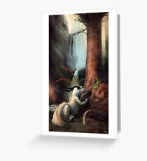 Frigga and the Water Dragon Greeting Card