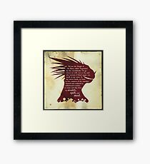 ES: Who are the Argonians? Framed Print