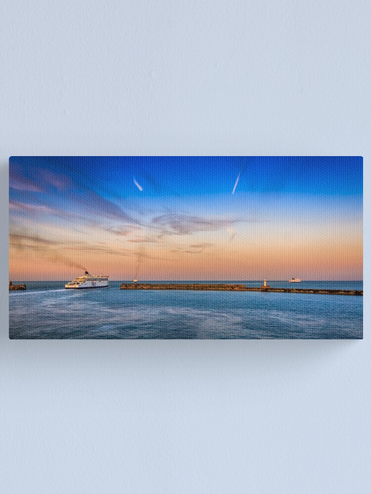 Alternate view of Dover Ferries Canvas Print