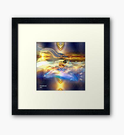 Flying in the light  Framed Print