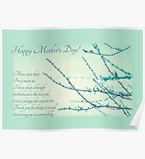 Thanks for Being a Great Mom (Mother's Day Card) Poster