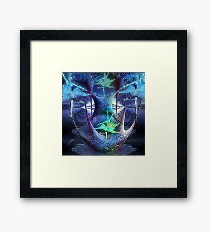 Fractal dancers Framed Print