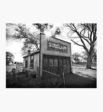 Old Sinclair Station (Black & White) Photographic Print