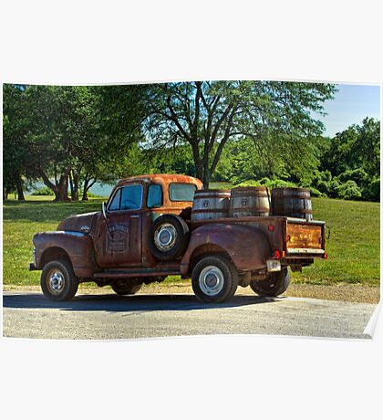 """1954 GMC Jack Daniels Pickup Truck """"Party Time"""" Poster"""