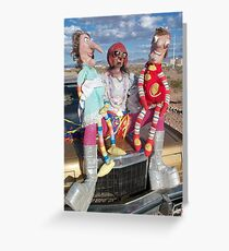 Funny Puppets Greeting Card