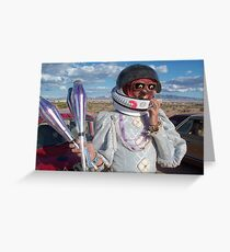 Astronaut Juggler Greeting Card