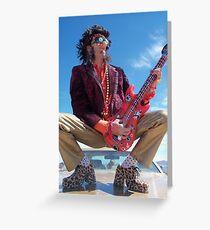 Rock Star King Greeting Card