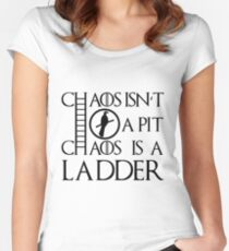 Chaos Ladder Women's Fitted Scoop T-Shirt