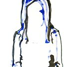 Blue and Green Contour Woman by RedPine
