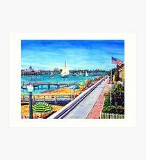 Balboa Island Newport Beach Ca. Art Print